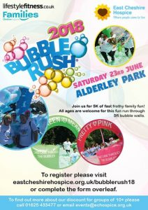 Cheshire East Hospice - Bubble run