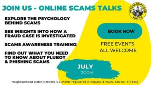July 2021 - Online scams alert
