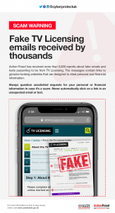 Scam Warning 11.01.19