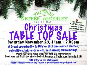Table Top Sale 23.11.19